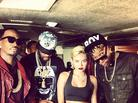 """BTS Photos: Video Shoot For Mike WiLL Made It's """"23"""" With Juicy J, Wiz Khalifa & Miley Cyrus"""
