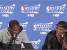 """Russell Westbrook Cracks Up When Asked If Steph Curry Is An """"Underrated"""" Defender"""