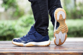 "Jordan Brand Adds A ""Navy/Gum"" Colorway To The Air Jordan 11 Low"