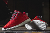 "Sneaker Customizer Unveils ""Quilted Red Lamb"" Yeezy Boost 350s"