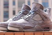 KAWS x Air Jordan 4 Official Images Showcase Smooth Cool Grey Suede