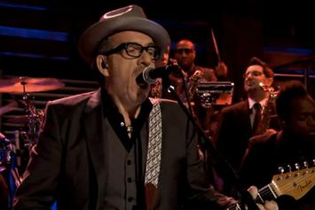 """The Roots Perform """"Walk Us Uptown"""" w/ Elvis Costello On Fallon"""
