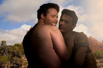 "James Franco & Seth Rogen Spoof Kanye West's ""Bound 2"""