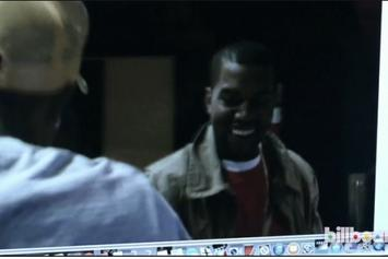 """Kanye West Records """"Through The Wire"""" With Pharrell in 2003"""