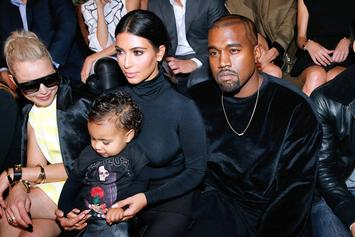 Photos: North West Sits Front Row With Kim Kardashian & Kanye West At Paris Fashion Week