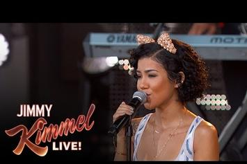 """Jhene Aiko Performs """"The Pressure"""" Live On Jimmy Kimmel"""