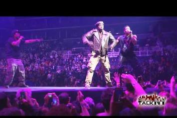 """A Tribe Called Quest Perform """"Scenario"""" With Busta Rhymes On Yeezus Tour"""