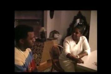 """Kanye West Sings """"Hey Mama"""" To His Mother"""
