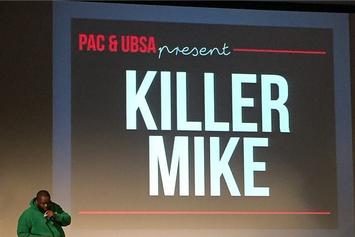Killer Mike Delivers Lecture At MIT On Independent Record Labels, Police Violence, White Rappers, And More