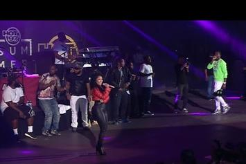 "Meek Mill & Nicki Minaj Say ""I Love You"" On Summer Jam Stage"
