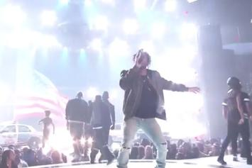 "Kendrick Lamar Performs ""Alright"" At BET Awards"