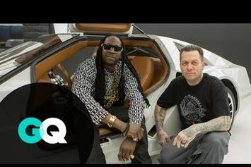2 Chainz Visits A $500k DeLorean At West Coast Customs