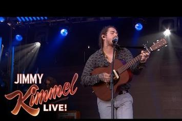 "Post Malone Performs ""Go Flex"" On Kimmel"