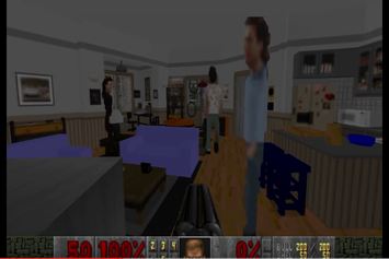 """Someone Recreated Jerry Seinfeld's Apartment In The Classic """"Doom"""" Game"""