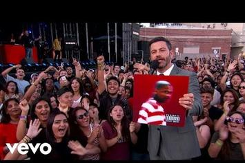 """YG Performs """"Why You Always Hatin"""" With Kamaiyah On Jimmy Kimmel"""