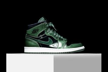 """Patent Leather """"Grove Green"""" Air Jordan 1 To Release This Weekend"""