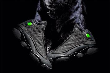 "Feast Your Eyes On New Images Of The ""Black Cat"" Air Jordan 13"