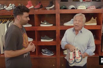 Sneaker Shopping At Bodega With Patriots Owner Robert Kraft