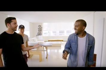 David Blaine Does Magic Trick With Kanye West