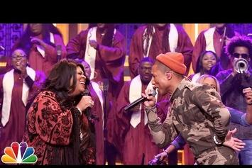 "Watch Pharrell Perform ""I See a Victory"" With Kim Burrell On Fallon"