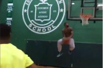 Watch Odell Beckham Jr Pull Off A Nasty Between The Legs Dunk