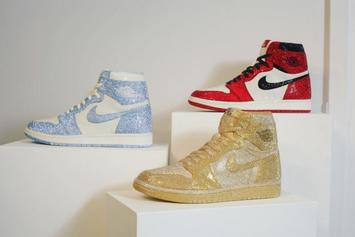 Check Out This Collection Of Oversized Air Jordans Made Out Of 140,000 Crystals