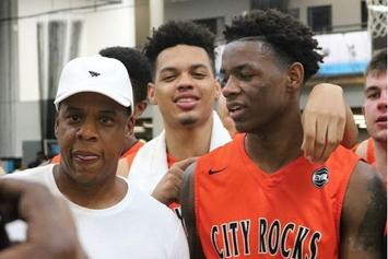 Watch Jay Z's Nephew Throw Down A Dunk On The #1 HS Prospect