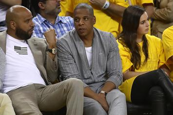 Jay Z & Kevin Hart Live Lavish At NBA Finals