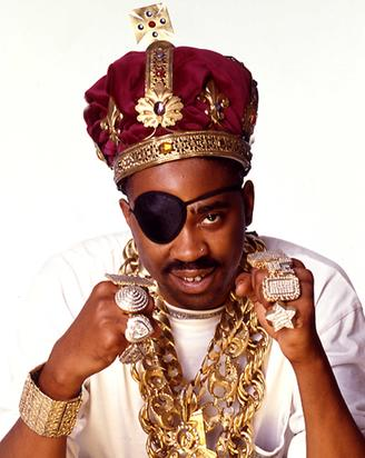 Slick Rick wore crazy big jewelry and crowns