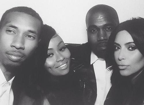 Tyga, Blac Chyna, Kanye and Kim in the photobooth