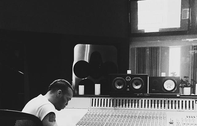Anderson .Paak in the studio