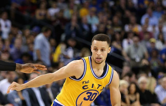 Steph Curry at Minnesota Timberwolves v Golden State Warriors on april 5 2016