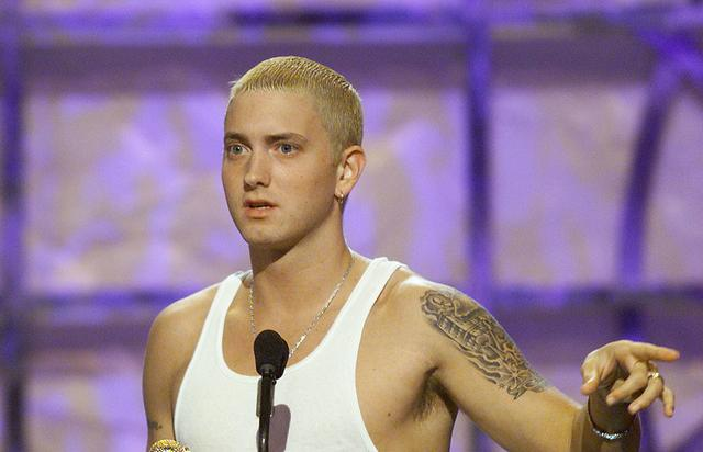 Eminem won Music Video of the Year at 'The Source Hip Hop Music Awards 2000' at the Pasadena Civic Auditorium in Los Angeles, Ca. 8/22/00.