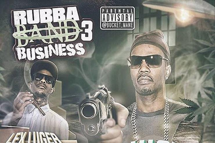"juicy j's ""rubba band business 3"" cover art"
