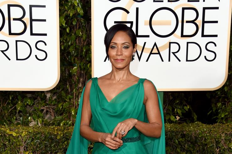 Jada Pinkett Smith at the 2016 Golden Globe Awards.