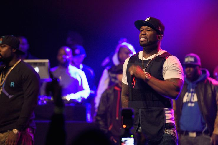 50 Cent performs at the Power 105.1 Anniversary.