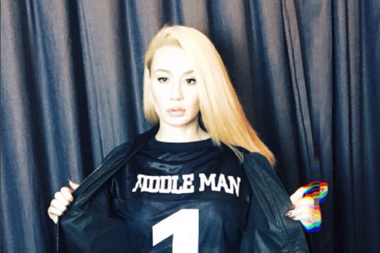 Iggy Azalea poses for a clothing brand.