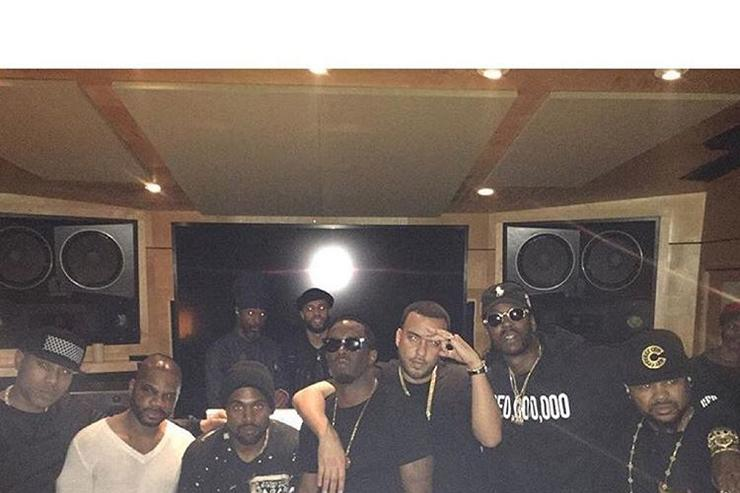 """Waves"" studio session with Diddy, French Montana & Kanye West"