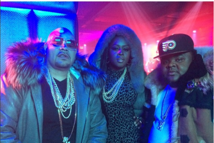 """Fat Joe, Remy Ma and Fred the Godson at the shoot for """"All The Way Up"""""""