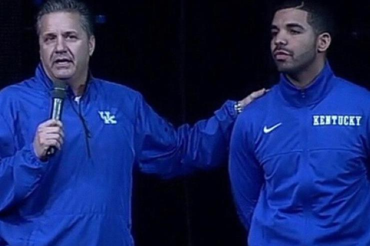 Drake and Coach John Calipari