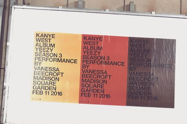 "Kim Kardashian & Kanye West together under a ""Pablo"" poster"