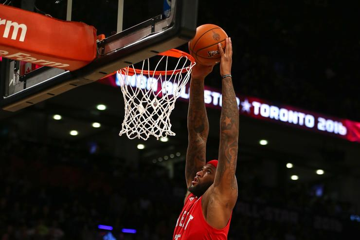 Demarcus Cousins at the 2016 ASG.