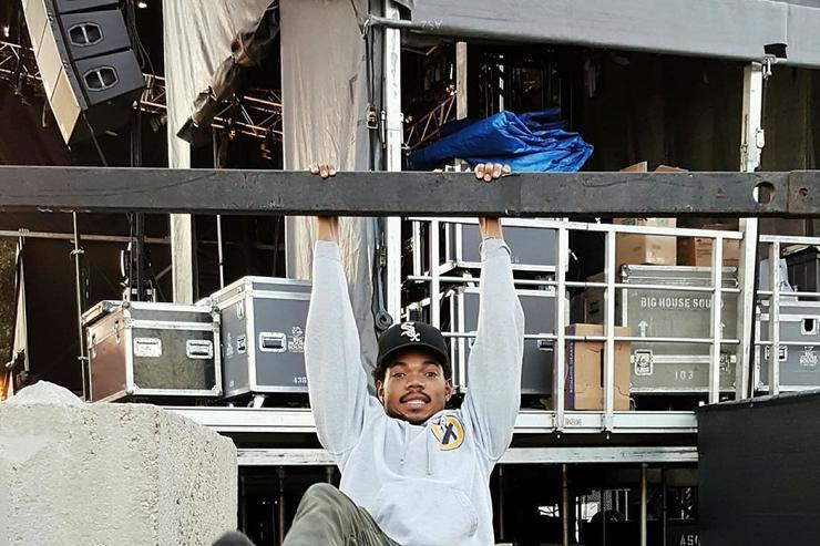 Chance the Rapper chills at ACL Fest