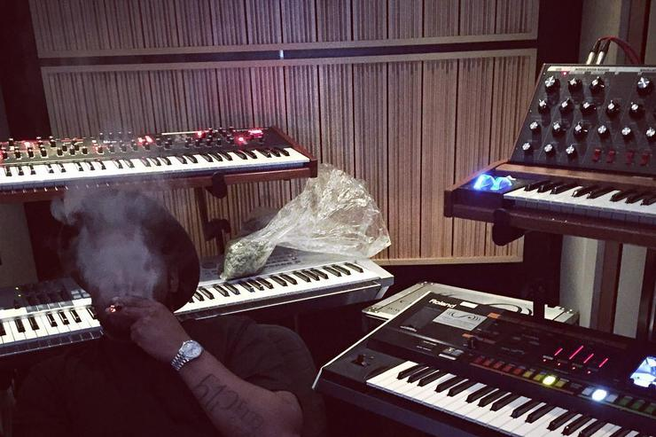 Schoolboy Q in the studio