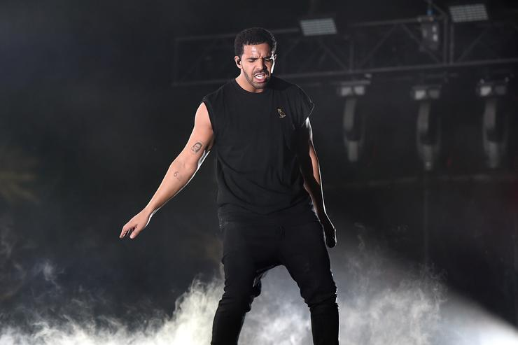 Drake performing at Coachella