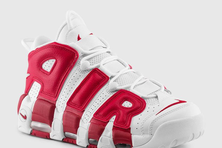 The Nike Air More Uptempo White/Red