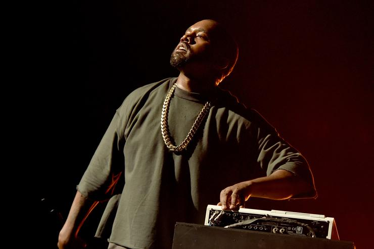 Musician Kanye West performs onstage at the 2015 iHeartRadio Music Festival at MGM Grand Garden Arena on September 18, 2015 in Las Vegas, Nevada