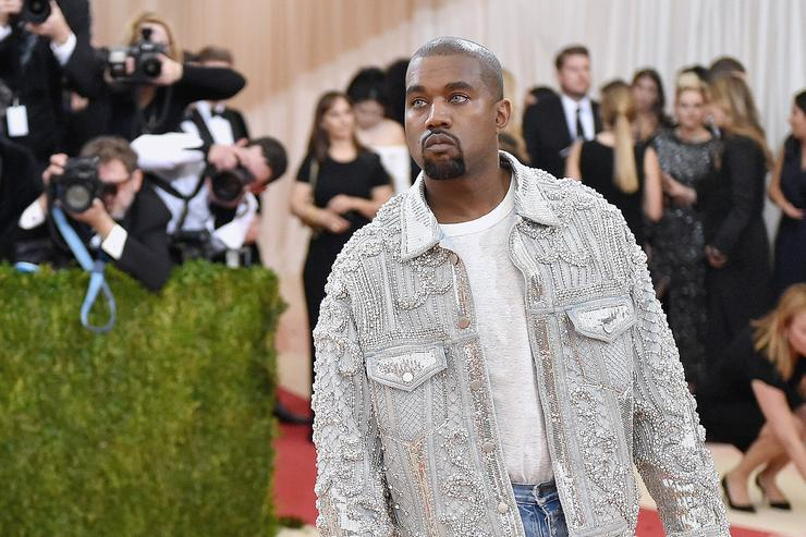 Kanye West attends the 'Manus x Machina: Fashion In An Age Of Technology' Costume Institute Gala at Metropolitan Museum of Art on May 2, 2016 in New York City.