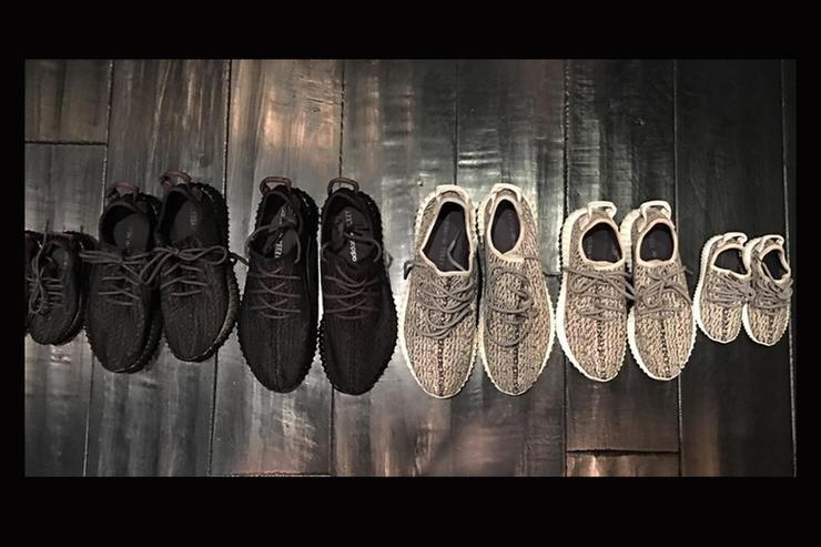 The full set of Yeezy Boost 350s