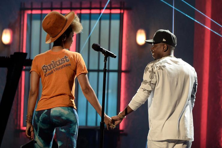 Kendrick Lamar and Erykah Badu at the 2013 BET Awards